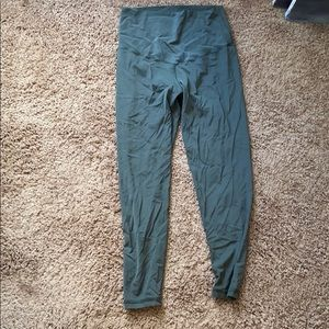 Olive Green aerie 7/8 leggings Medium short